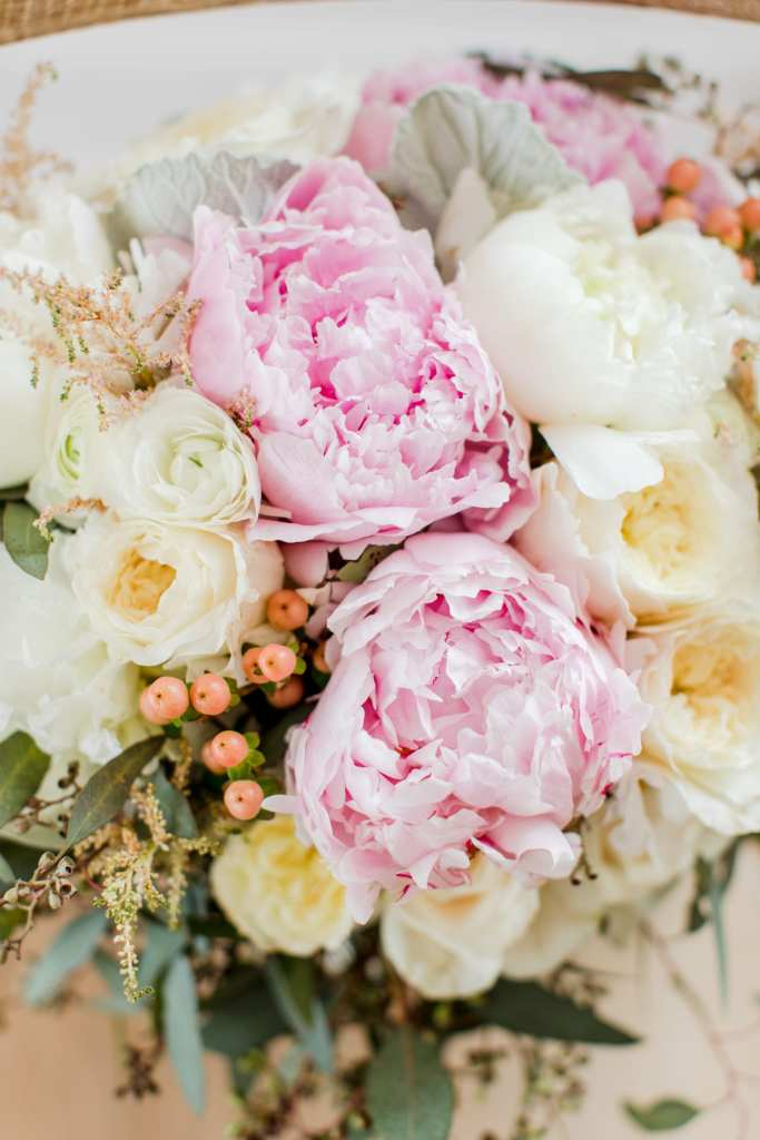 peony bouquet, New Jersey wedding photographer, elegant rustic bouquet