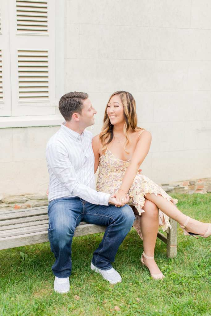 Dressy Casual engagement photos, Princeton Gardens