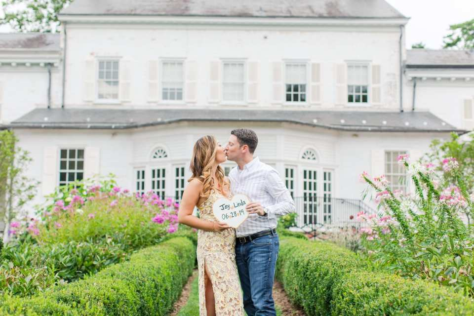 Revolve lace dress, morven museum photos, princeton engagement, garden engagement photos