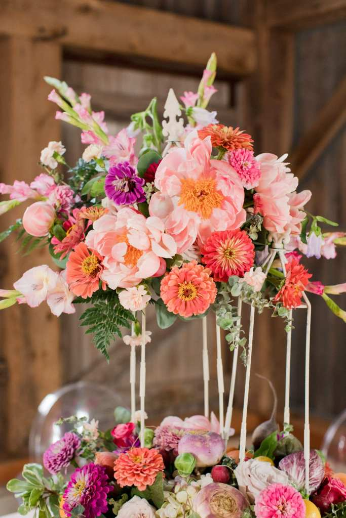 rustic floral centerpiece, aster snapdragon centerpiece, Terhune orchards