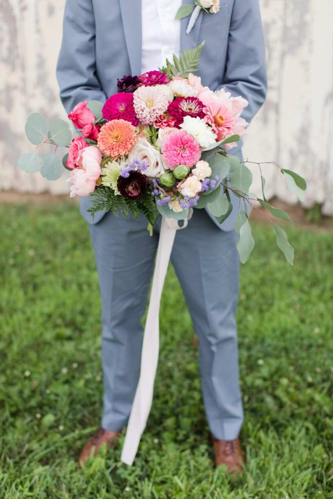 rustic Princeton wedding, rustic bouquet, pink wedding bouquet, incorporating vegetables into wedding bouquet,
