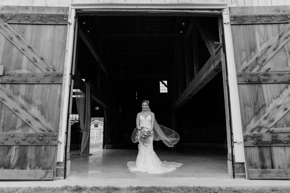 Updike Farmstead wedding, rustic Princeton wedding, rustic bride, NJ wedding photographer, , Barn bridal portrait, black and white bridal portrait, Castle Couture