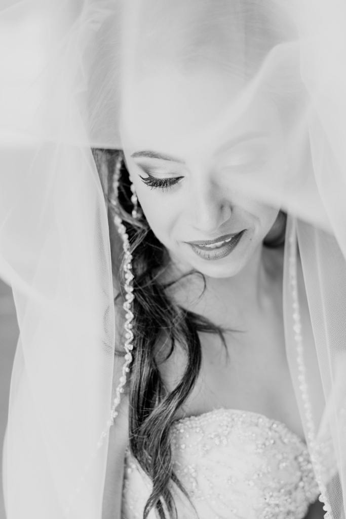 classy bridal portrait, bridal veil portrait, NJ wedding photographer