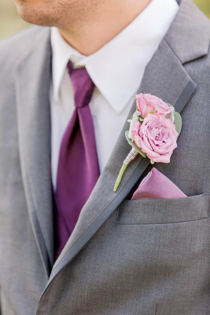 succulent and rose boutonniere