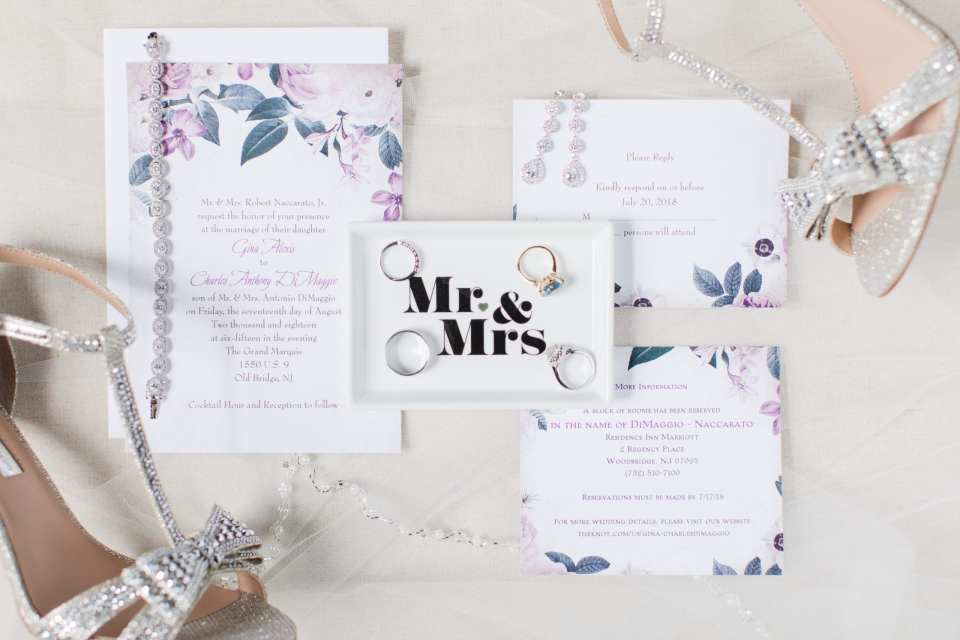 Anns Bargain Bridal wedding stationary, floral wedding stationary, purple floral wedding invitation