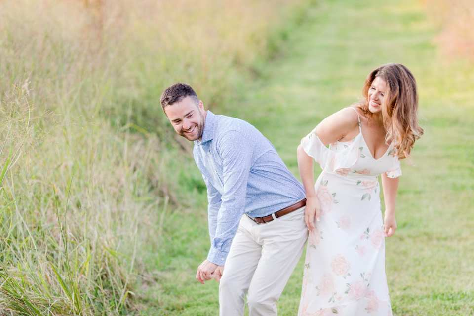 fun silly engagement photos
