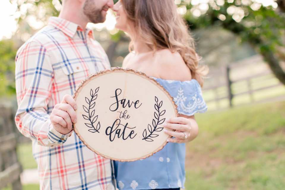 rustic save the date signs, etsy engagement ideas, etsy wedding prop ideas