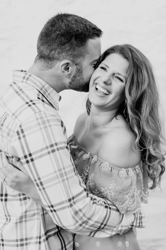 candid engagement photos, black and white engagement photos, mountain lakes house