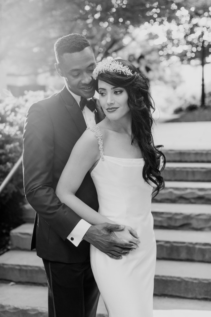 sensual black and white photo of bride and groom, Princeton weddings, NJ wedding photographer