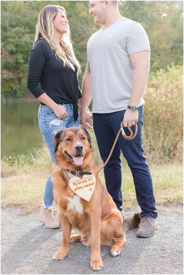 holmdel engagement photos, pets in engagement photos, engagement photos with dog, NJ wedding photographer