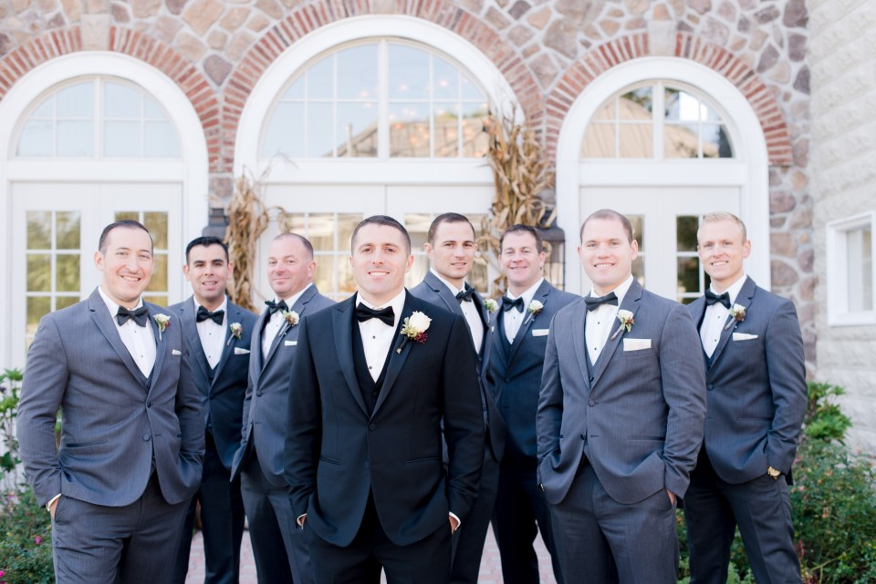 formal groomsmen photo, Ryland Inn, NJ wedding photographer