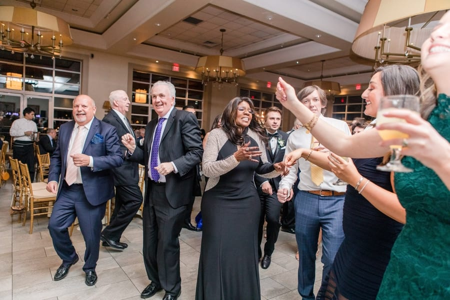 guests dance during the reception with gloria gaynor