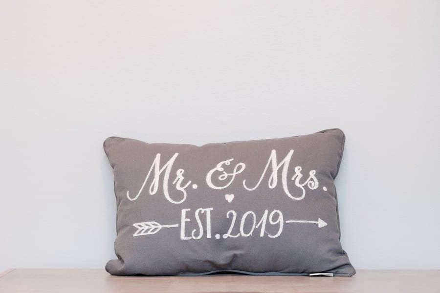 Personalized Mr. and Mrs. pillow