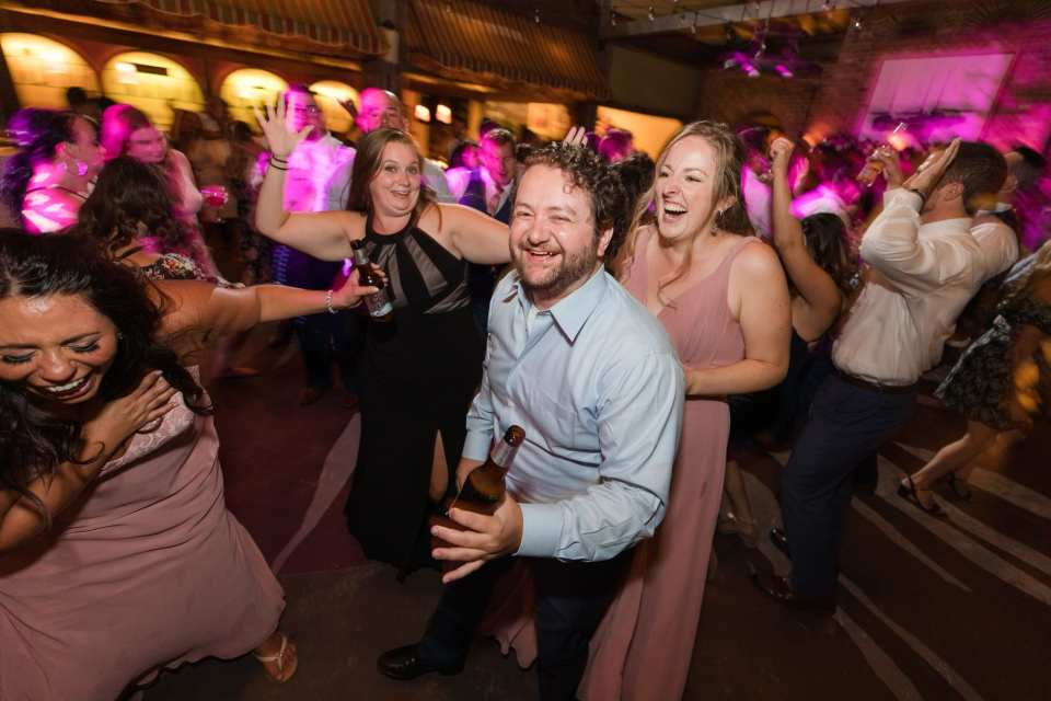 guests dance during the reception