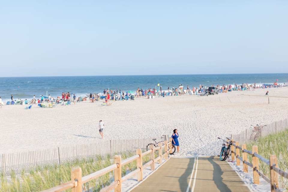 Lavallette Beach during the summer