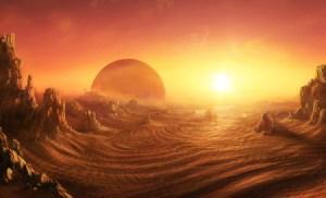 sci-fi desert