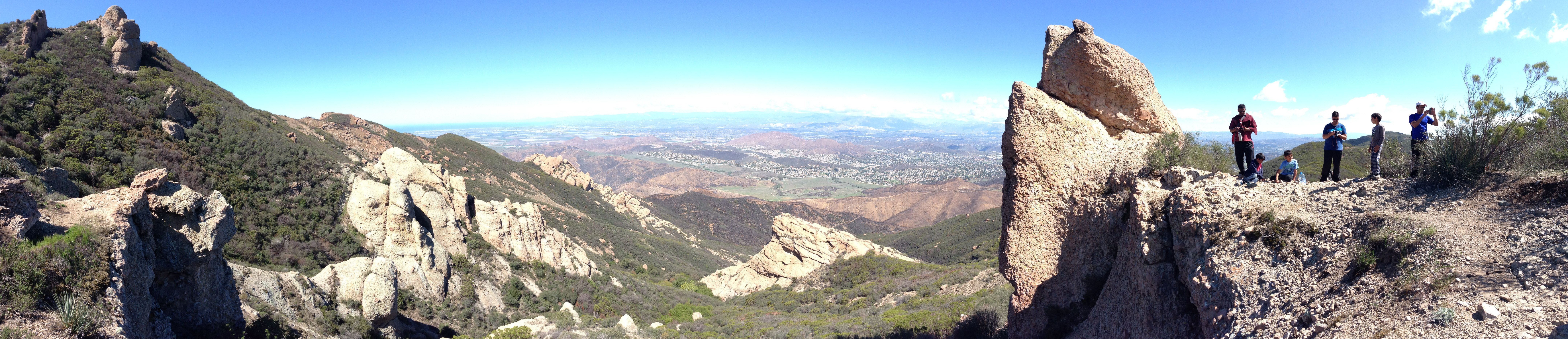 Panaromic view of newbury park and camarillo