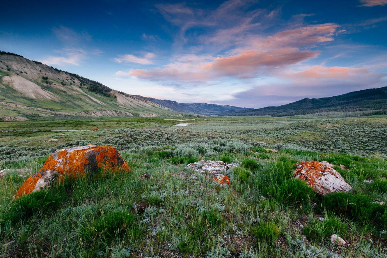 Teton Photo Adventures - Boulders Sunset Valley Peaks