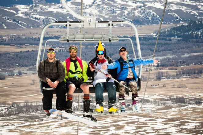 Skiing Chairlift Costumes Gaper Day