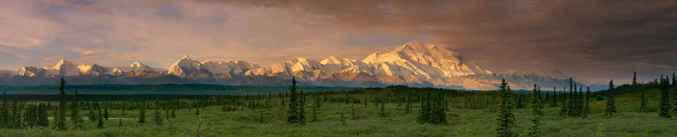 The Beast - Denali. This photo took a week to build in Photoshop over 15 years ago. The entire pano was shot on film, scanned and then assembled by hand.