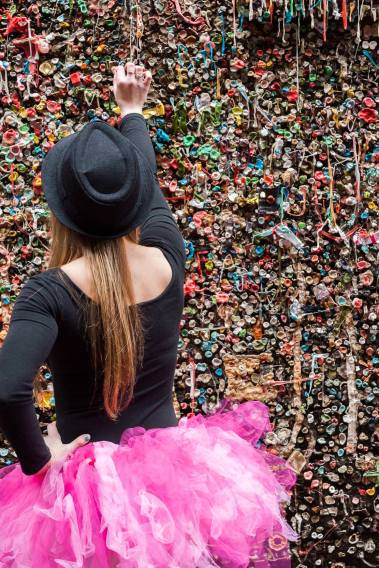 The gum wall is nothing if don't show a person's interaction with it.