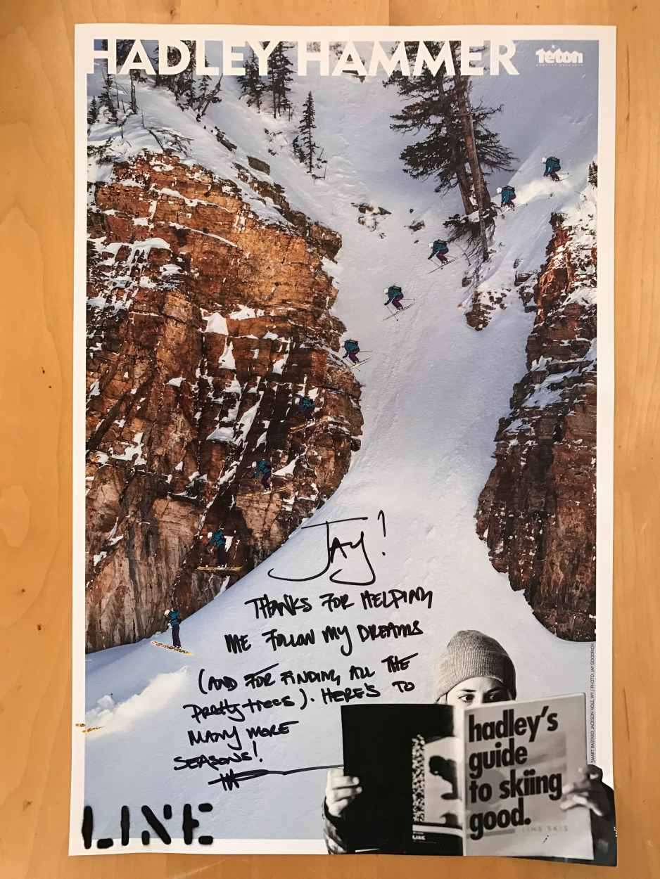 Line Skis Photo Poster by Jay Goodrich