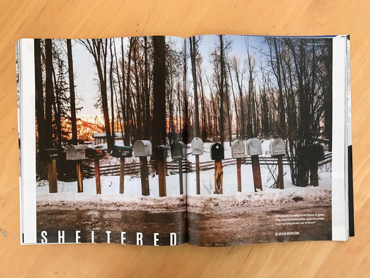 December 2016 Powder Magazine tear sheet by Jay Goodrich
