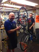 Craig Cooper and his crew getting after some sweet bike maintenance. Keep an eye out for him and the Grinnell Bikes To You crew during RAGBRAI. They'll be all over the route assisting the riders and being the damn fine ambassadors to that state of Iowa that they are! https://www.facebook.com/bikestoyou https://www.facebook.com/bikestoyou