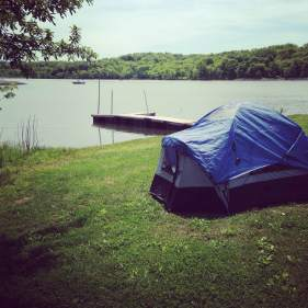After Dairy Queen for breakfast, (Because why not that's why!) We headed over to our campsite on the Little River Lake.