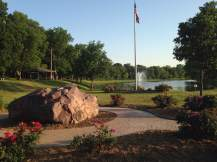 Glenwood Lake Park has plenty of room for anyone who needs to take a load off.