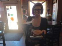 Ally was our fearless server in Keosauqua.