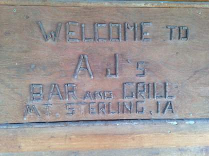 AJ's bar and Grill 101 Elm Street, Mount Sterling, Iowa