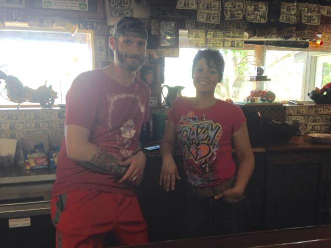 Some of the friendly and hard working crew at AJ's Bar and Grill.