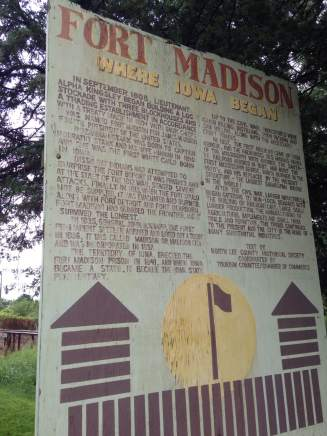 Near the original site of Fort Madison