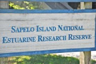 Sapelo Island welcome sign.