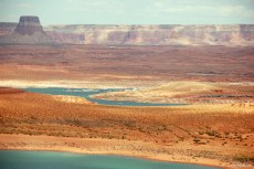 LAKE POWELL AND SURROUNDING CANYONS.