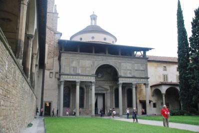 Part of the cloisters at Santa Croce.