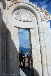 One of the lovely marble arches on top of the Duomo viewing area.