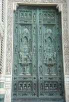 The massive front doors of the Cathedral......