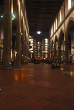 interior of Santa Croce... very dark inside.