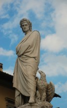 statue of Dante outside of Santa Croce