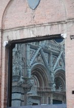 Cathedral reflecting in a window...