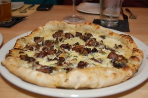 Mushroom Formaggi Pizza from Pele's Wood Fire