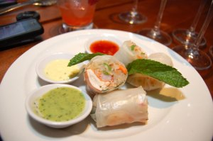 Chilled Lobster & Shrimp Spring Roll