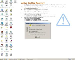 Active Desktop Issue