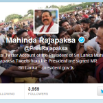 Q&A Via Lankan President's Twitter Account