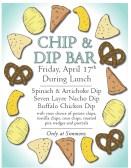 chip and dip bar poster