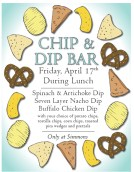 chip and dip bar poster