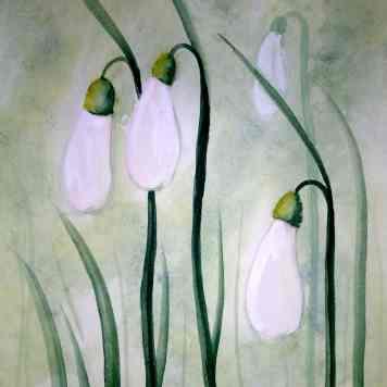 Watercolor Snowdrops