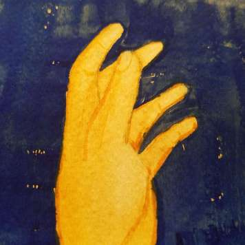 Sky Lantern I (detail of left hand)